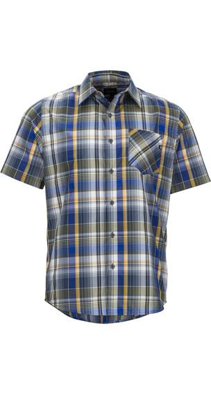 Marmot Echo Skjorte 1/2 Herrer blå/farverig